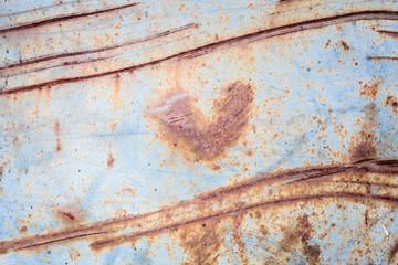 Metallic rust texture with heart shape