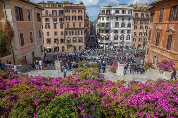 Rome : escalier de la Trinité-des-Monts