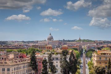 Vue de Rome depuis les jardins de la Villa Borghèse