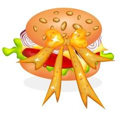 hamburger in omaggio