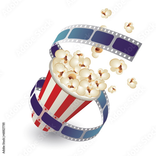 pop corn with film strip