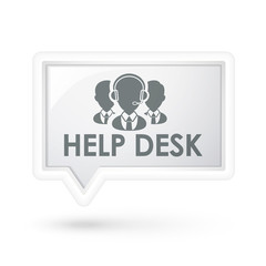 help desk with services icon on a speech bubble