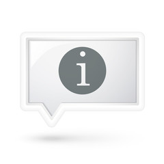 information icon over speech bubble