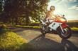 Leinwanddruck Bild - Biker