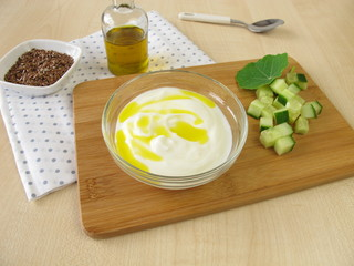 Joghurt mit Leinöl