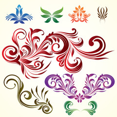 Floral Ornamental Elements