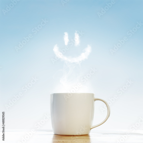 Сoffee cup with smile symbol