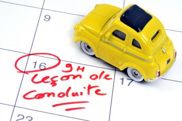 Rendez-vous de leçon de conduite