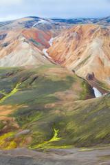 Islanda montagne colorate
