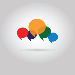 concept people chat - many speech bubbles & questions