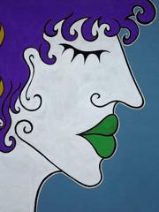 Profilo di viso murales