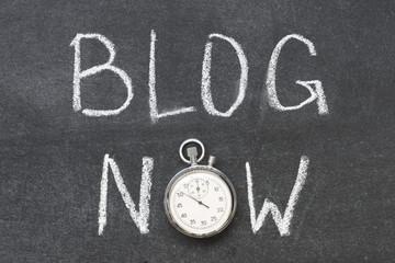 blog now