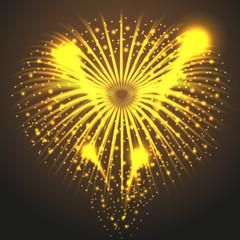 желтый фейерверк на коричневом фоне