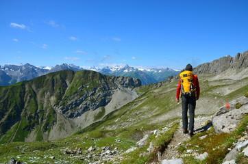 Wanderung im Hochgebirge
