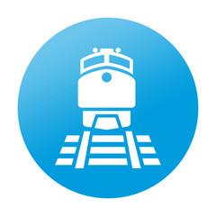 Etiqueta redonda estacion de tren