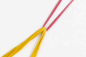 Colorful rubber bands - Stock Image macro.
