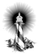 Wood block style lighthouse