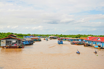 The village on the water of Tonle Sap