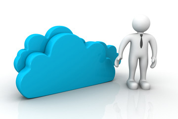 Cloud  with man ..