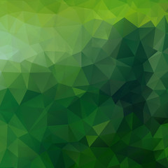 Abstract geometric background of triangles in green colors.