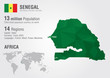 Senegal world map with a pixel diamond texture.