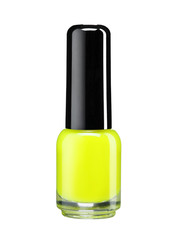 Yellow nail varnish