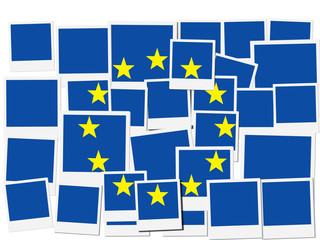 An illustration of the flag of European Union, photo frame