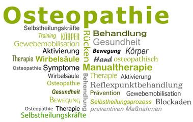Osteopathie Textcloud Wörter
