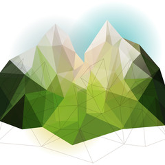 Green abstract mountain