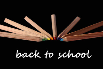 schulanfang, buntstifte, back to school