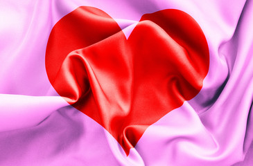Romantic Love Heart Flag
