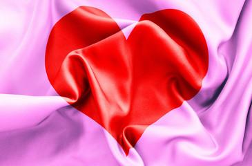 Romantic Love Heart Flag