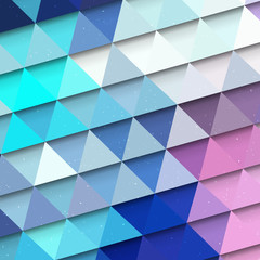 Turquoise triangle background