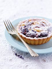 Small Plum Tart on a Plate