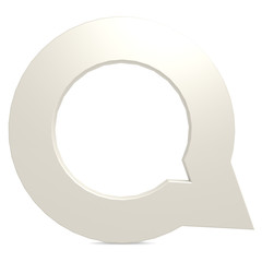 Speech bubble white round