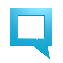 Square blue speech bubble