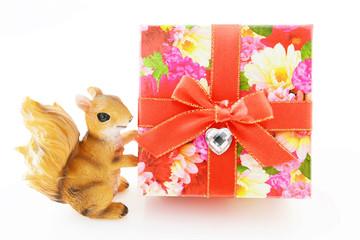 花柄のプレゼント
