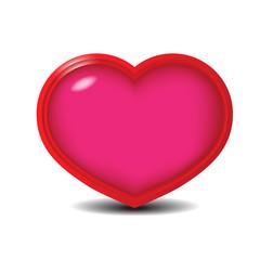 Red Heart, Vector Illustration