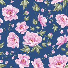 Elegant seamless peony pattern.