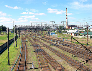 Large railway junction
