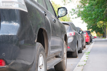 the image of a vehicles parked