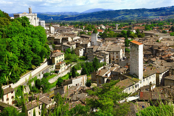 Gubbio- medieval town in Umbria, Italy