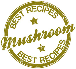 mushroom recipes stamp