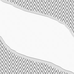 Gray and White Chevron  Zigzag Frame with Torn Background