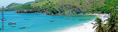 Foto op Canvas Groene koraal Beautiful caribbean beach