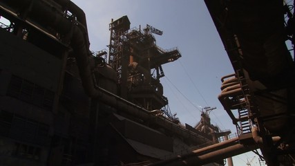 view of the blast-furnace shop