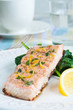 Salmon with Spinach