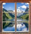 canvas print picture - FensterblickGosausee