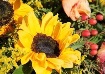 Blütenmischung mit Sonnenblumen
