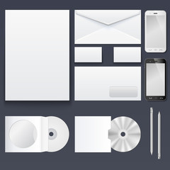 Corporate identity templates — blank, business cards, disk,